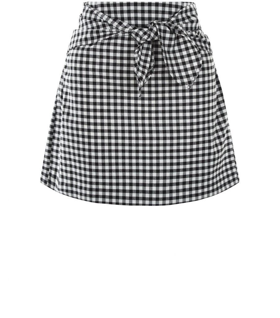 black-gingham-tie-front-mini-skirt