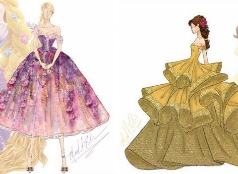 Les robes des princesses Disney imaginées en version haute couture