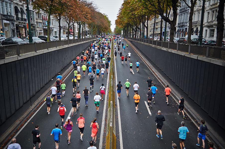 parcours des 20km de Bruxelles