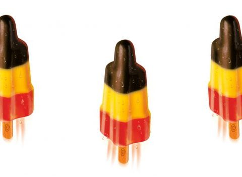 BUZZ: une glace aux couleurs de la Belgique