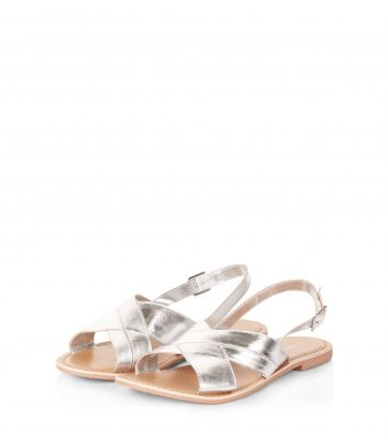 silver-leather-cross-strap-sling-back-sandals