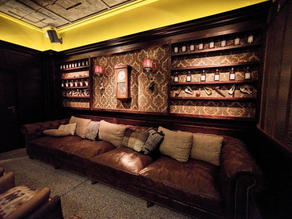 bar vintage canapé cuir