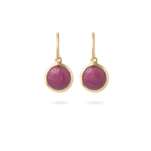 Boucles d'oreilles en rubis et or jaune 18k, Fabienne Kriwin, 1295€
