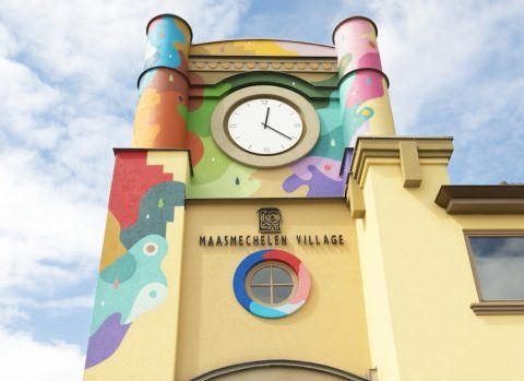 L'artiste Oli-B décore Maasmechelen Village