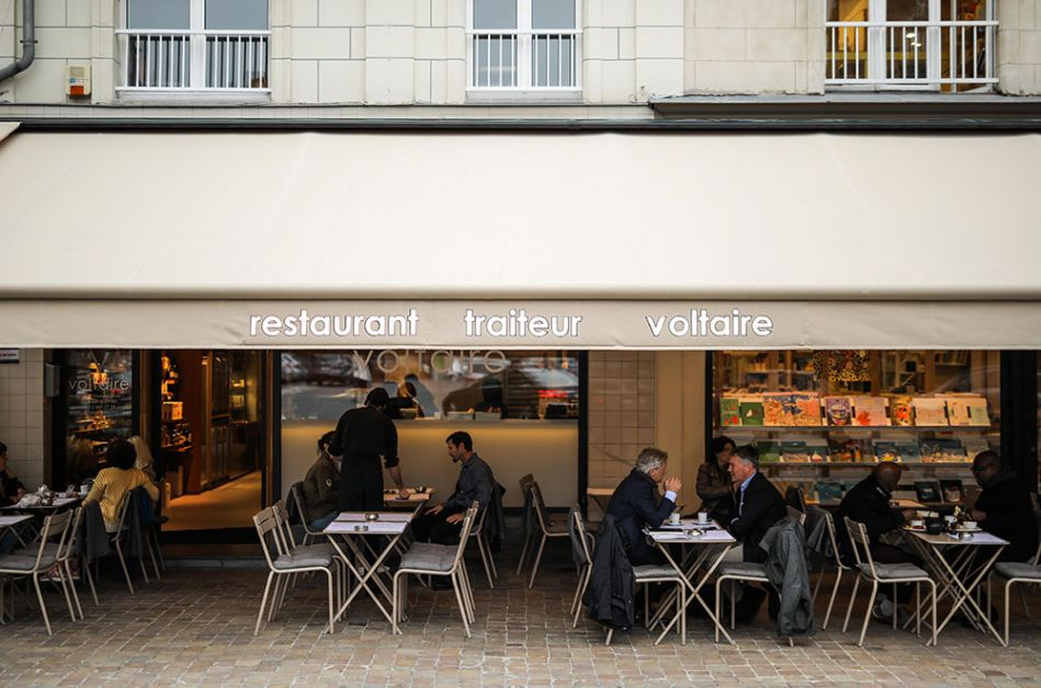 La terasse de chez Voltaire à Bruxelles