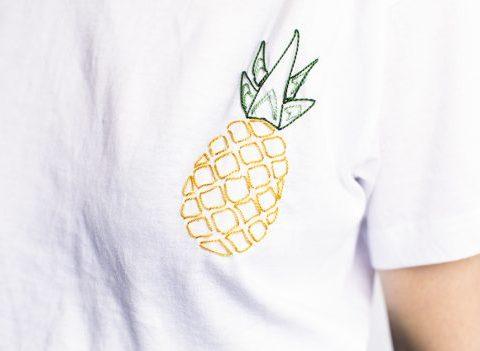 Le DIY du mercredi : le t-shirt brodé ananas