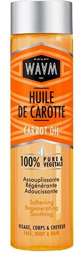 Huile de carotte Waam pour un effet bonne mine.
