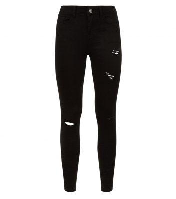 jean-skinny-jenna-noir-déchiré-aux-genoux