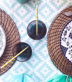 Le DIY du mercredi: les assiettes vintage colorées