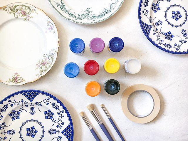 Le DIY du mercredi: les assiettes vintage colorées - 1