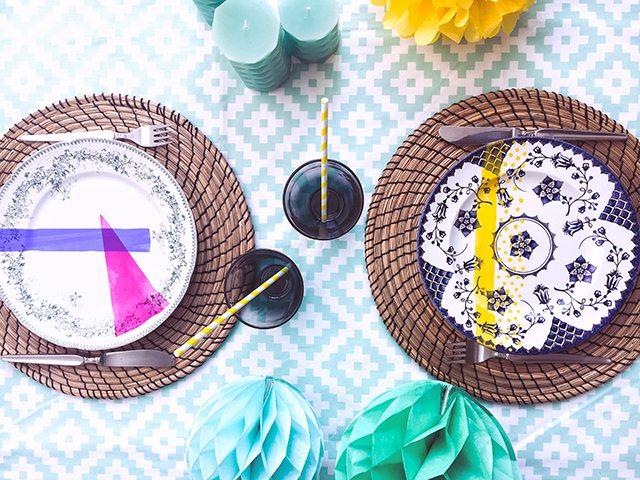 Le DIY du mercredi: les assiettes vintage colorées - 4