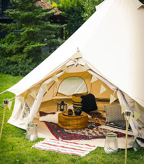 DIY: une tente berbère dans son jardin