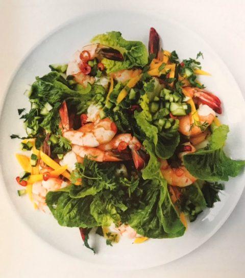 Salade de crevettes tropicales : recette