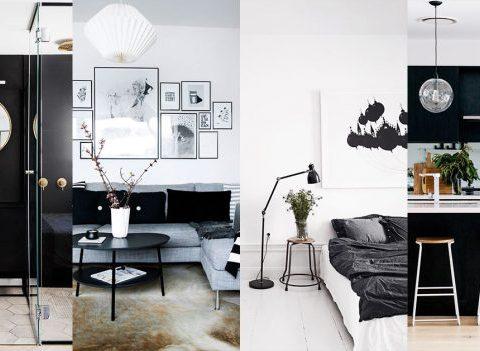 30 intérieurs en noir et blanc qui nous donnent envie de changer de déco