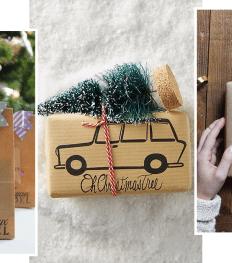 emballages cadeaux de Noël