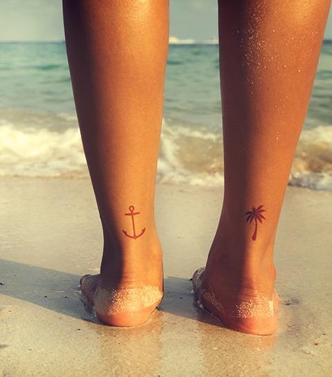 30 mini tatouages de pieds