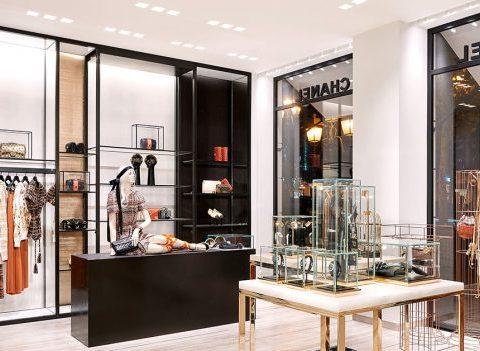 Réouverture de la boutique Chanel à Bruxelles