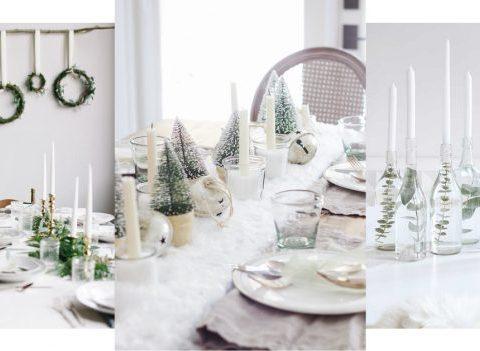 DIY: 30 idées pour une table de Noël blanche comme neige