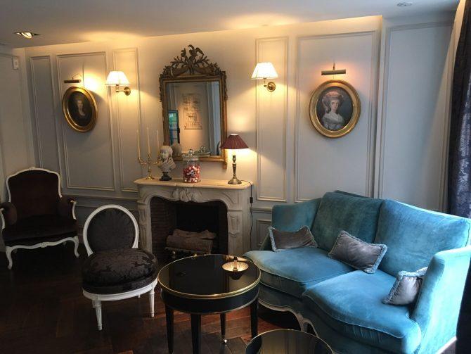 Salon de l'Hôtel de Buci, petit château pour s'aimer
