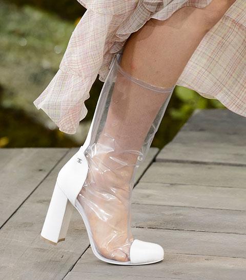 Comment porter les boots transparentes ?