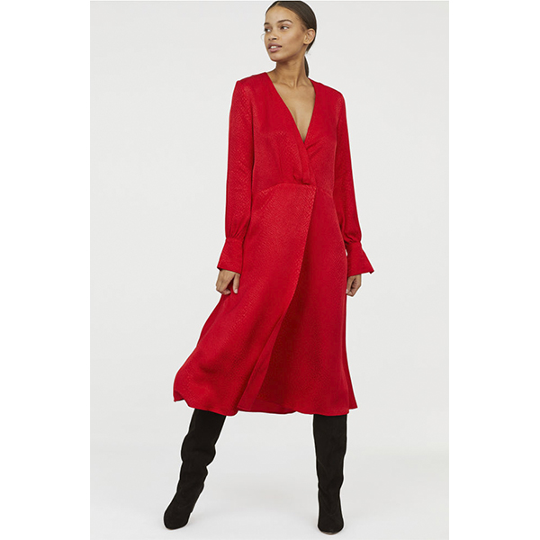 robe rouge h&m