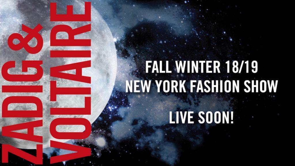Suivez en live le défilé ZADIG & VOLTAIRE depuis la fashion week de New York - 1