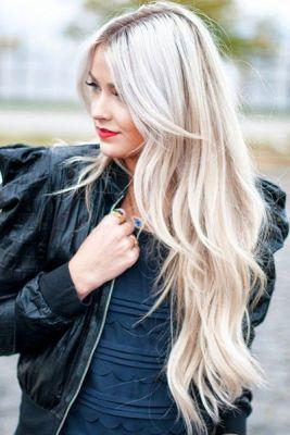 Coiffures tendances : Blonde platine 3 – Pinterest