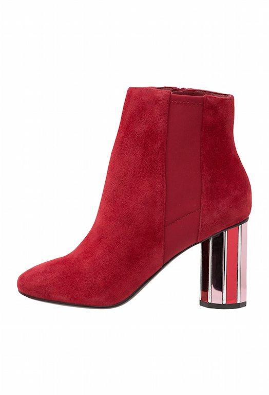 bottines rouges