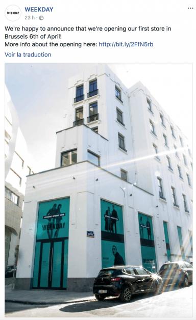 Weekday ouvre sa première boutique à Bruxelles - 1