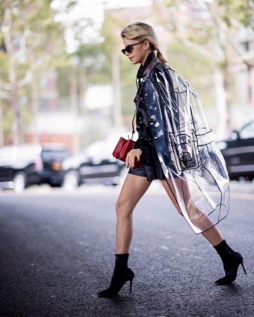 Pluie : comment porter l'imperméable transparent ? - 3