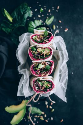 Spinach-Wrap-with-Beet-Hummus