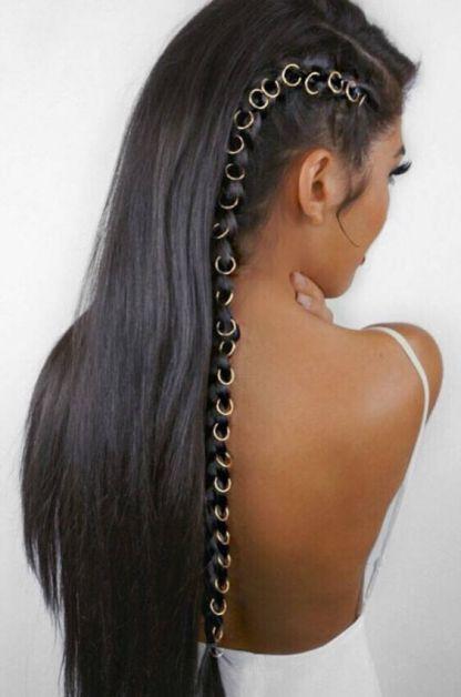 beaded hair bague pint