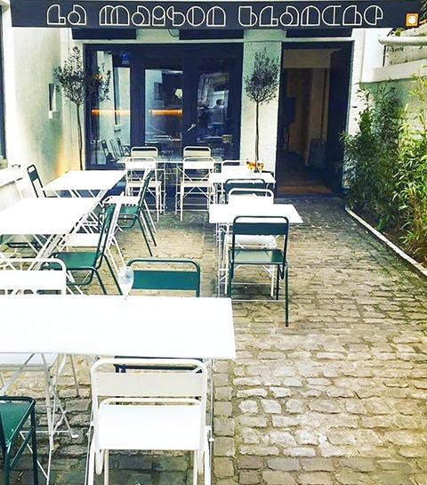 Terrasse et bbq: La Maison Blanche à Ixelles, notre QG cet été