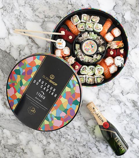 Ce soir, c'est caviar, sushis et champagne au menu