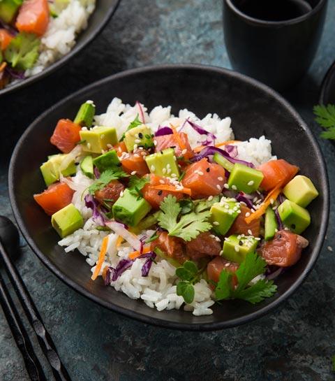 salades été riz