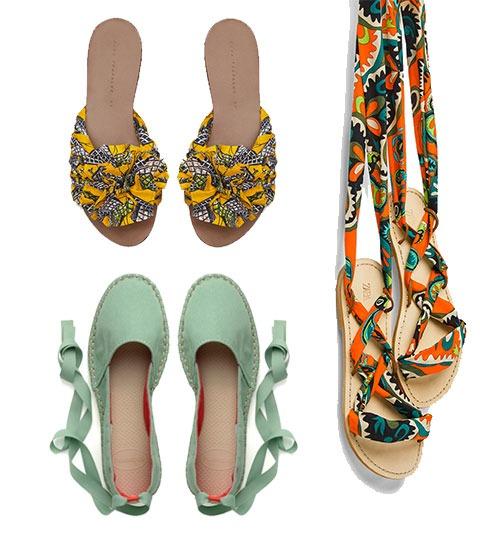 10 paires de sandales plates à moins de 100€