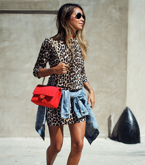 On est toutes belles avec une robe léopard