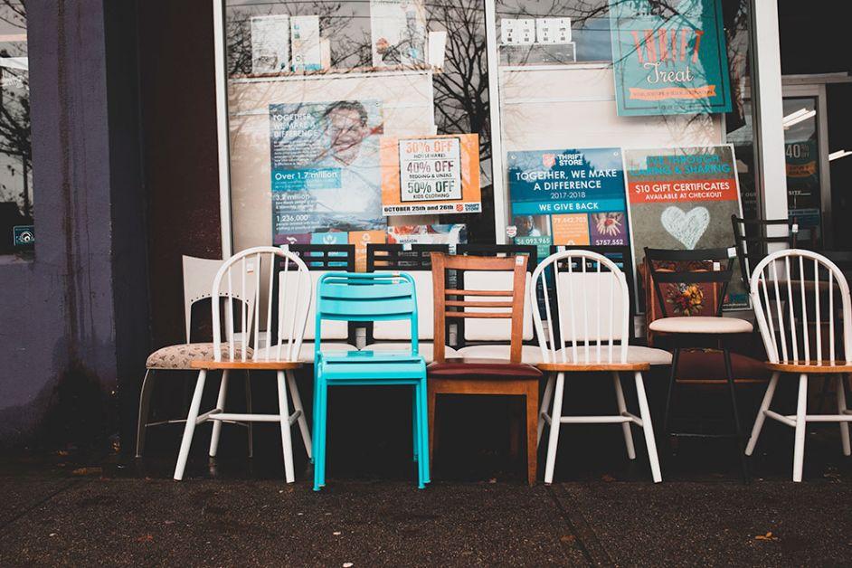 éco-chèque pour les meubles vintage