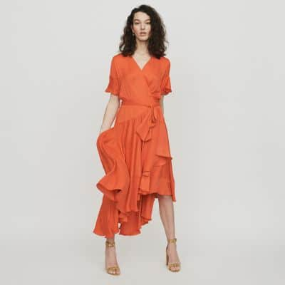 robe volants orange