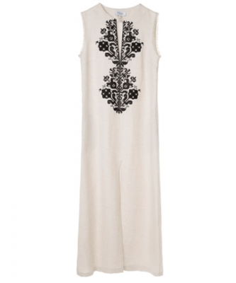 Screenshot_2018-07-12 Beige and Black Persephone Linen Embroidered Sleeveless Dress DRESSES aesthet com