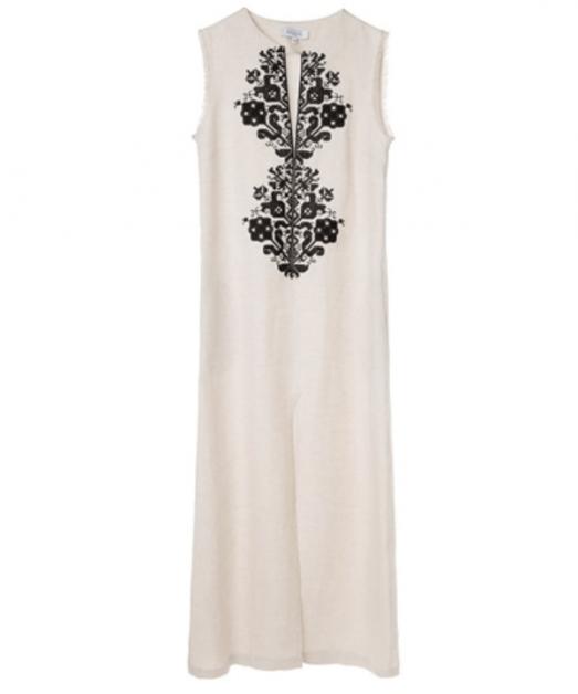 Screenshot_2018-07-12 Beige and Black Persephone Linen Embroidered Sleeveless Dress DRESSES aesthet com