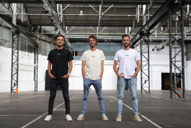 Les trois fondateurs de Hangar