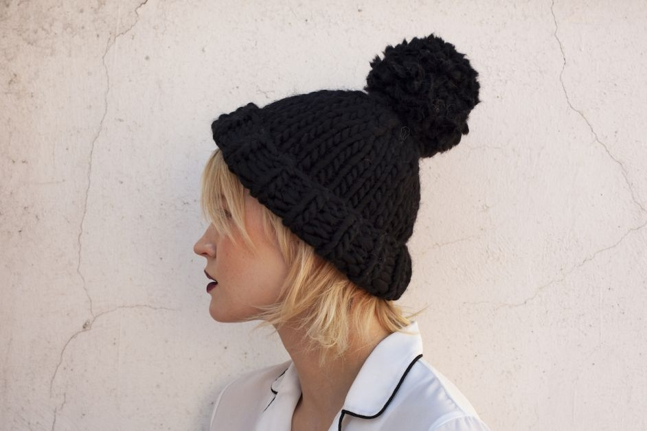 We Are Knitters – Fold up beanie – porté1