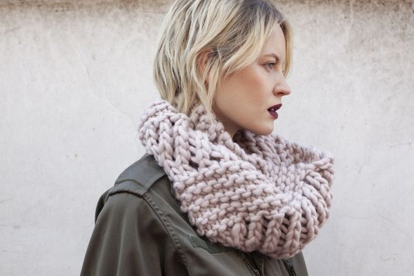We Are Knitters – Lace snood – porté1
