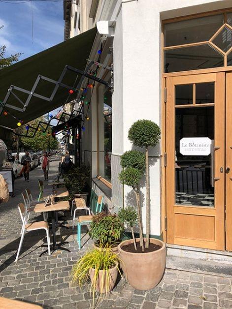 L'entrée du restaurant Le Botaniste