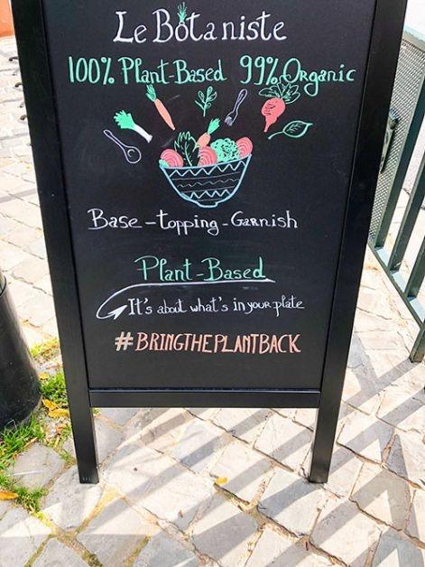 La carte du Botaniste à Bruxelles.