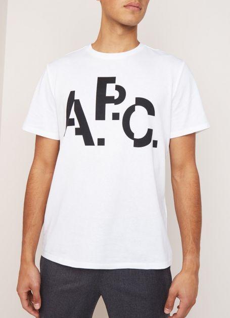 t-shirt blanc apc