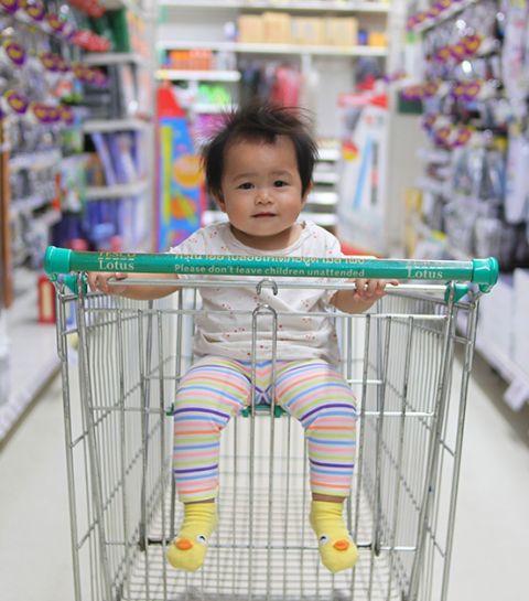 Le shopping des enfants et mamans débordées