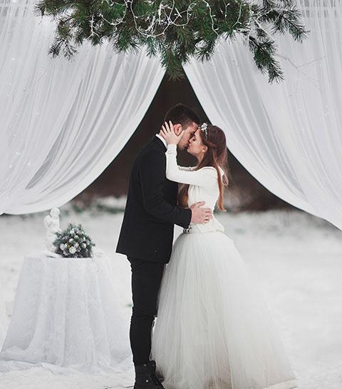 10 avantages à se marier en hiver