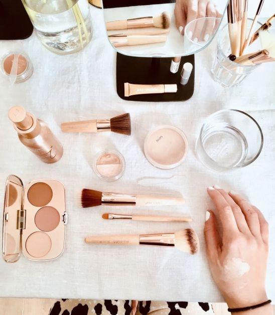 Maquillage minéral pour un teint naturel
